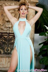 Brett Rossi Looks Hot In Blue Dress