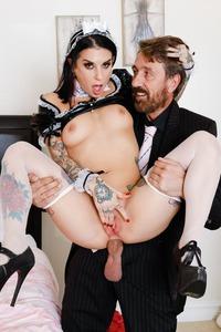 Sexy Maid Joanna Angel Fucked And Cummed On Boobs