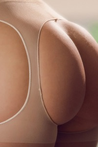 Blue Eyed Brunette Lana Rhoades Strips Sexy Lingerie