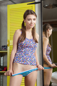 Busty Young Teen Mila Azul Getting Naked