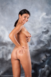 Erotic Brunette Sanita