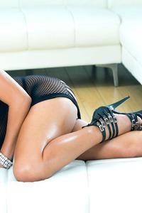 Exotic Asian Lana Croft In Black Lingerie