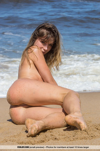 Nude Angel Lily C Posing On The Beach