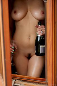 Busty Champagne Lover Jelena Jensen
