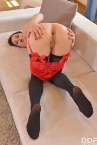 Long Legged Babe In Nylon Stockings Emily Ross