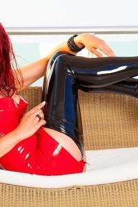Lara Larsen In Red And Black