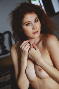 Young Redhead Teen Adel C Shows Pussy