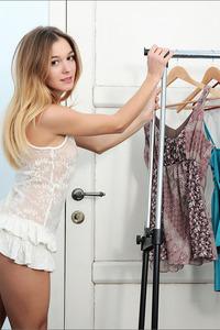Cute Brunette Stefani Stripping