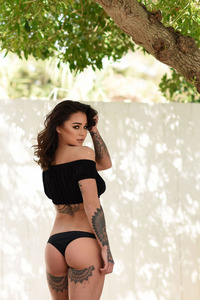Mica Martinez In Black Top And Panties