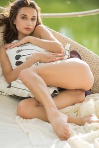Playboy Teen Girl Gloria Sol Down Her White Lingerie