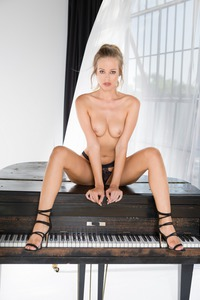 Playboy Hottie Olivia Preston Strips On Piano