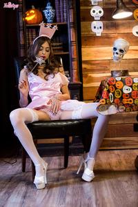 Halloween Cock Sucking Babe  Riley Reid
