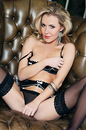 Becky Roberts - British International Model Makes Black Stockings