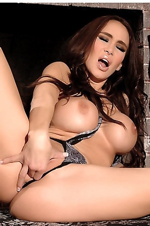 Sandee Westgate Fingers Herself In Sexy Lingerie