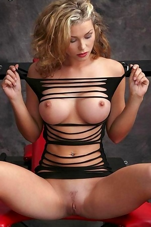 Heather Vandeven Wearing A Sexy Ripped Up Dress