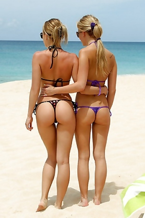 Blue Angel & Sara Jaymes Hot Lesbians On Beach