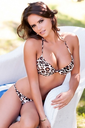 Adele Taylor In Leopard Bikini