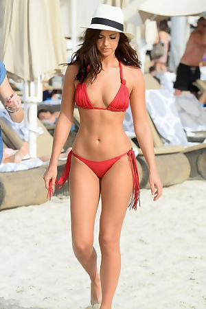 Lucy Mecklenburgh On The Beach