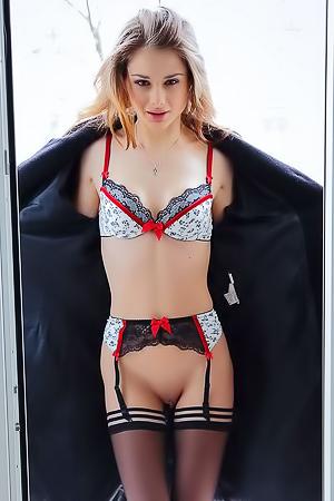 Skinny Brunette Loretta