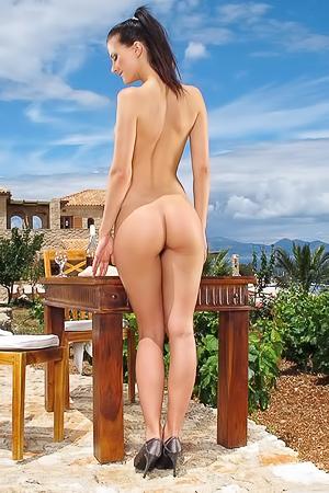 Lauren Crist Posing Nude Outdoors
