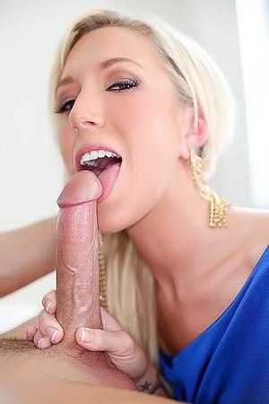 Young Blonde Maia Deepthroating