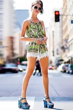 Carolina Sanchez Posing In Summer Collection