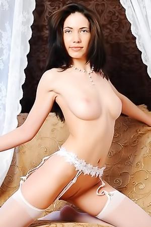 Presenting Kalina, A Cute Girl With Long Dark Hair