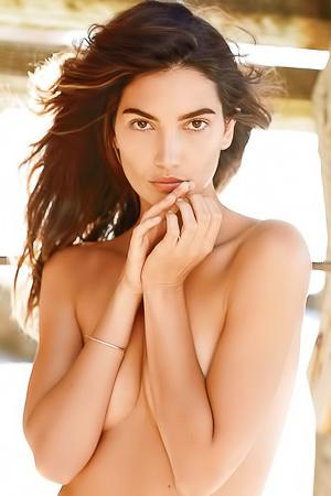 Topless Lily Aldridge