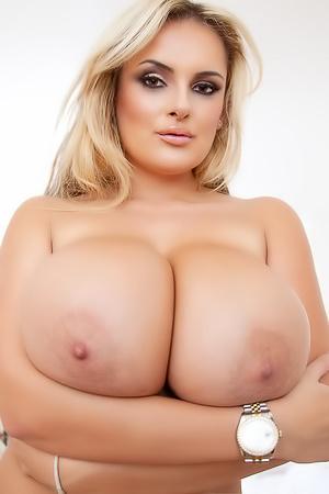 Katie Thornton Flashing Her Massive Tits