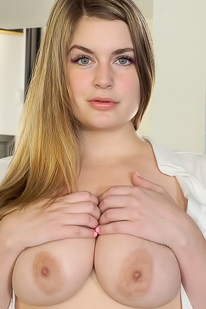 Busty Danielle In Sexy White