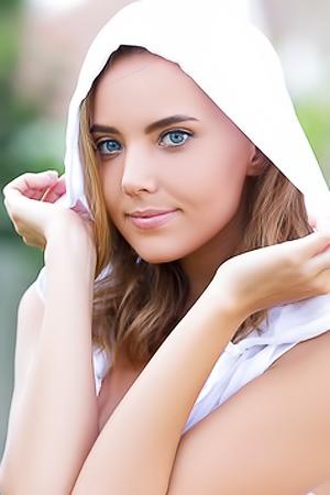 Russian Model Katya Clover Posing On Green Grass