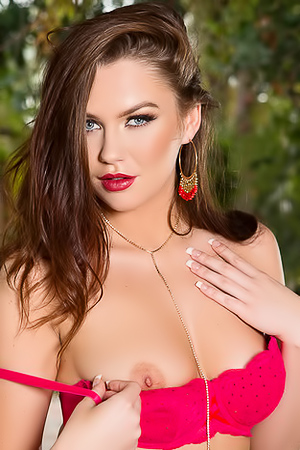 Ashleigh Rae All Natural In Red Lingerie
