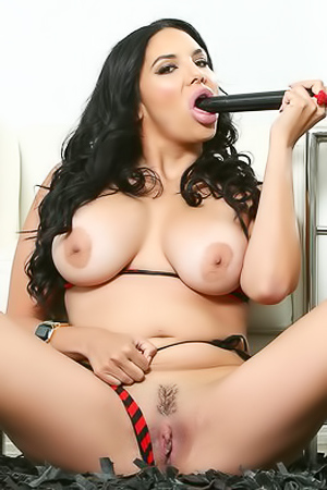 Missy Martinez Masturbates Witha Huge Dildo