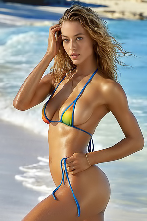 Hannah Ferguson On The Beach