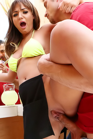 Sexy Lemonade Girl Charlotte Cross Fucked In Public