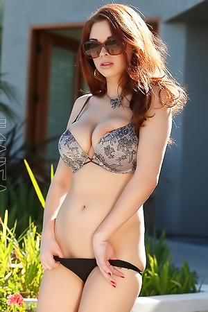 Sabrina Maree Outdoor Strips Off