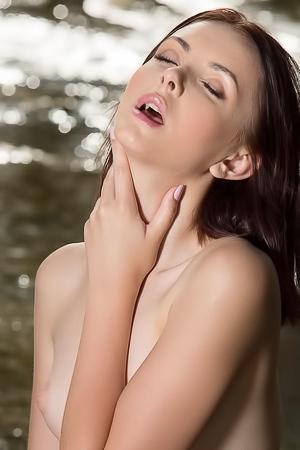 Beautiful Redhead Cordoba Nude In The Brook