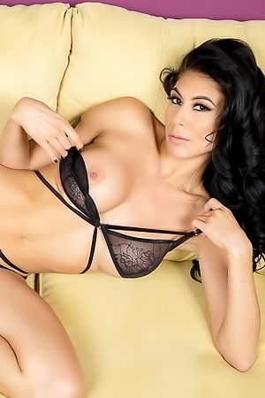 Latina Hottie Heather Vahn Spreading On The Couch