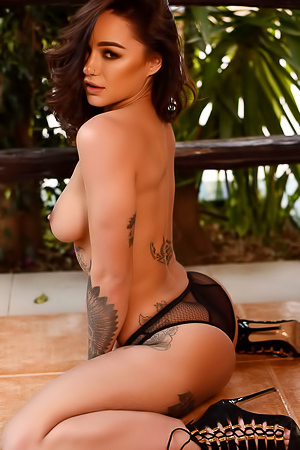 Pretty Tattooed Babe Mica Martinez Gets Naked
