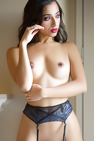 Nippy Brunette Lexi Storm In Erotic Underwear