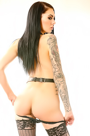 Sexy Tattooed Girl In Stockings