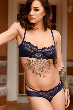 Amazing Tattooed Babe Mica Martinez Strips Off Her Sexy Lingerie