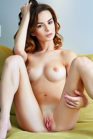 Slim Brunette Teen Denisa Nude