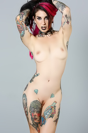 Tattooed Joanna Angel Is Raven
