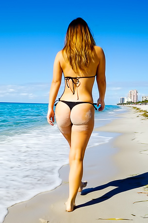 Eva Lovia Lovely Beach Butt