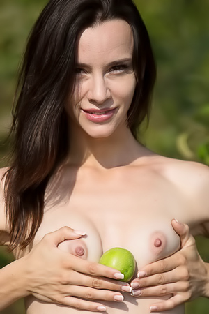 Teen Model Adel M Stripping Outdoors