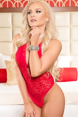Veronika Skylee In Red Lingerie
