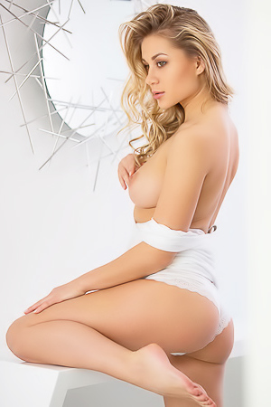 Candice Brielle Beauty In White