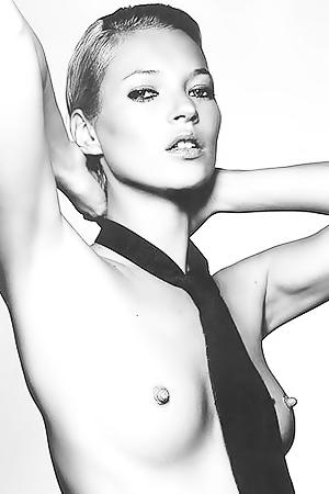 Kate Moss - Black & White Nudes