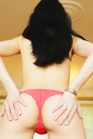 Irida In Red Lingerie